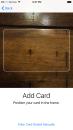 iOS 9 Scan a card into Apple Pay